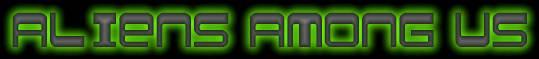 Aliens Among Us title logo